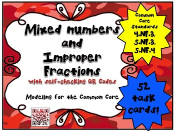 Mixed Numbers and Improper Fractions - Modeling for the Common Core