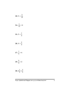 Mixed operations between fractions, mixed numbers and whole numbers