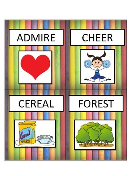 Mixed /r/ Vocabulary Cards