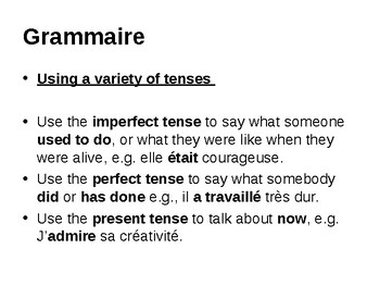 Mixed tenses (Present, Perfect and Imperfect)