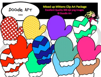 Mixed up Mittens Clipart Pack