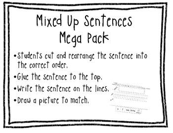 Mixed-up Sentences Mega Pack