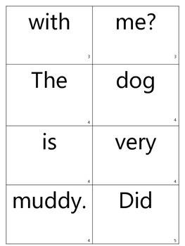 Mixed up sentences cards