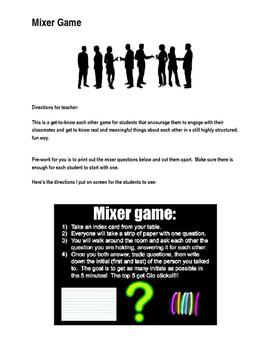 Mixer Mingle Game