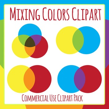 Mixing Colors Clip Art Set for Commercial Use