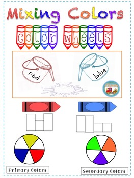 Mixing Colors and Color Wheel Activities
