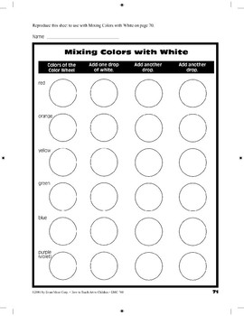 Mixing Colors with White