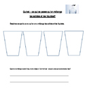 Mixing Liquids and Solids Worksheet. En francais