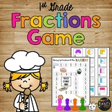 Fractions Activity for First Grade Fractions Game for Math Stations