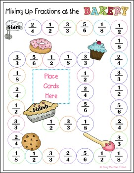 Mixing Up Fractions At The Bakery- Fractions Game- {SECOND GRADE}