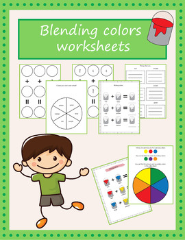 Mixing colors worksheets (US letter & A4)