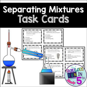 Mixture Separation Task Cards