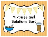 Mixture and Solution Sort