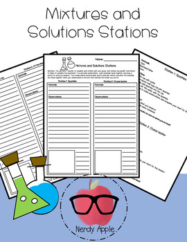 Mixture and Solution Stations- Physical Science Activity