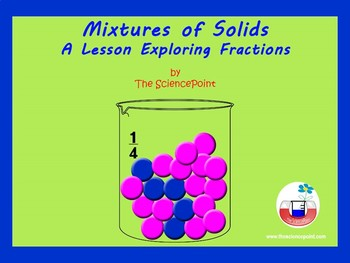 Mixtures: A math-science lesson exploring parts (fractions) of a mixture