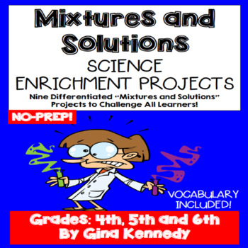 Mixtures And Solutions Projects, Vocabulary Handout