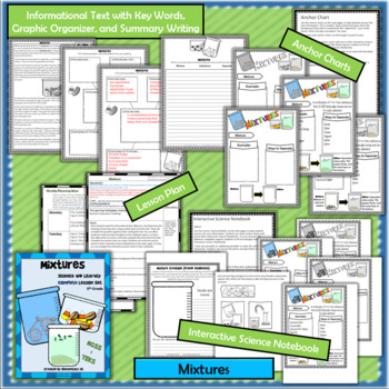 Mixtures Complete Lesson Set Bundle  (TEKS & NGSS) 5th Grade