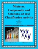 Mixtures, Compounds and Solutions, oh my! Classification Activity