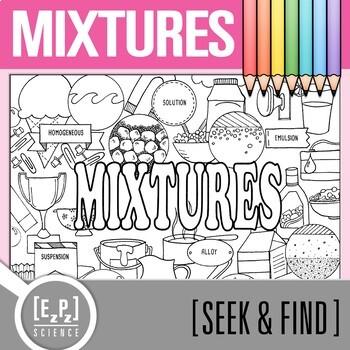 Mixtures Seek & Find Doodle Page