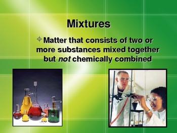 Mixtures & Solutions Presentation (filtration evaporation)