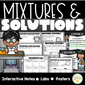 Mixtures & Solutions Mini-Unit for Upper Grades
