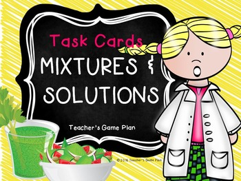 Mixtures & Solutions Task Cards