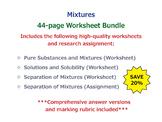 Mixtures [Worksheet Bundle]