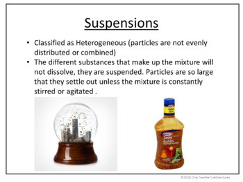 Mixtures and Pure Substances - Editable PowerPoint and Notes