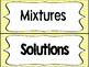 Mixtures and Solution Sort