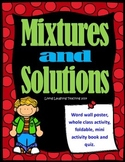 Mixtures and Solutions Activity Packet