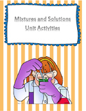 Mixtures and Solutions Activities
