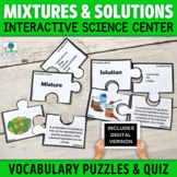 Mixtures and Solutions Activities | Vocabulary Puzzles | P