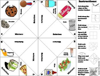Mixtures and Solutions Activity/ Foldable