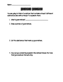 Mixtures and Solutions Activity: Reverse Recipes