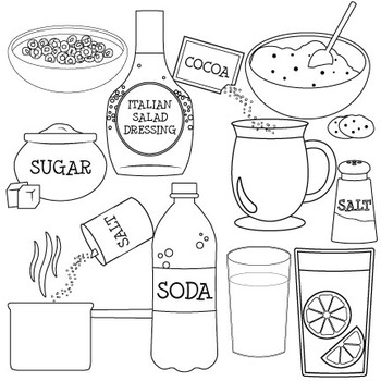 Mixtures and Solutions Clip Art