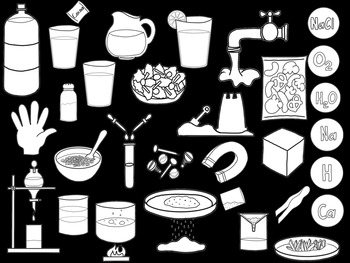 Mixtures and Solutions Clip Art Bundle
