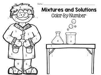Mixtures and Solutions Color-By-Number