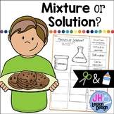 Mixtures and Solutions Cut and Paste Sorting Activity