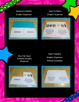 Mixtures and Solutions Foldable Graphic Organizer