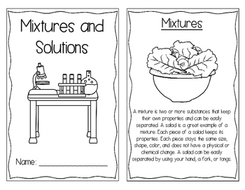 Mixtures and Solutions Interactive Book