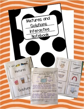 Mixtures and Solutions Interactive Notebook