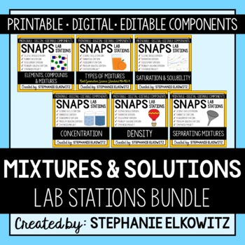 Mixtures and Solutions Lab Bundle