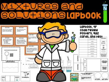 Mixtures and Solutions Lapbook: A Unit Review