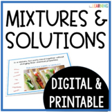 Mixtures and Solutions: PowerPoint Lesson and Activities (