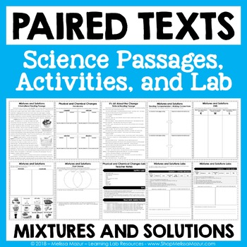 Mixtures and Solutions - Paired Texts - Passages, Activities, and Lab