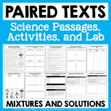 Mixtures and Solutions - Paired Texts - Passages, Activiti