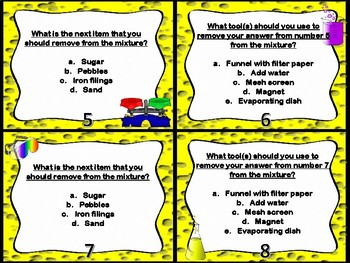 Mixtures and Solutions Part 1 Task Cards