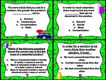 Mixtures and Solutions Part 4 Task Cards