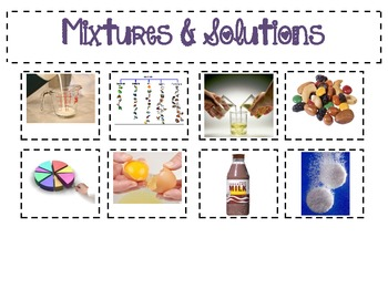 Mixtures and Solutions Poster Set