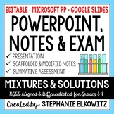 Mixtures and Solutions PowerPoint, Notes & Exam